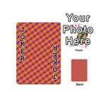 Vibrant Retro Diamond Pattern Playing Cards 54 (Mini)  Front - Joker1