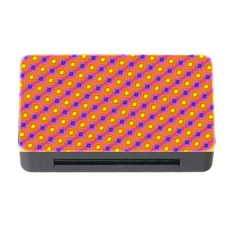 Vibrant Retro Diamond Pattern Memory Card Reader with CF