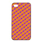 Vibrant Retro Diamond Pattern Apple iPhone 4/4s Seamless Case (Black) Front