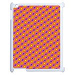 Vibrant Retro Diamond Pattern Apple iPad 2 Case (White) Front