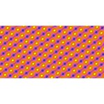 Vibrant Retro Diamond Pattern Twin Heart Bottom 3D Greeting Card (8x4) Back