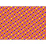 Vibrant Retro Diamond Pattern Circle Bottom 3D Greeting Card (7x5) Back