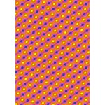 Vibrant Retro Diamond Pattern Ribbon 3D Greeting Card (7x5) Inside