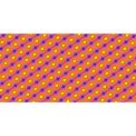 Vibrant Retro Diamond Pattern Laugh Live Love 3D Greeting Card (8x4) Back