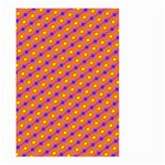 Vibrant Retro Diamond Pattern Small Garden Flag (Two Sides) Back