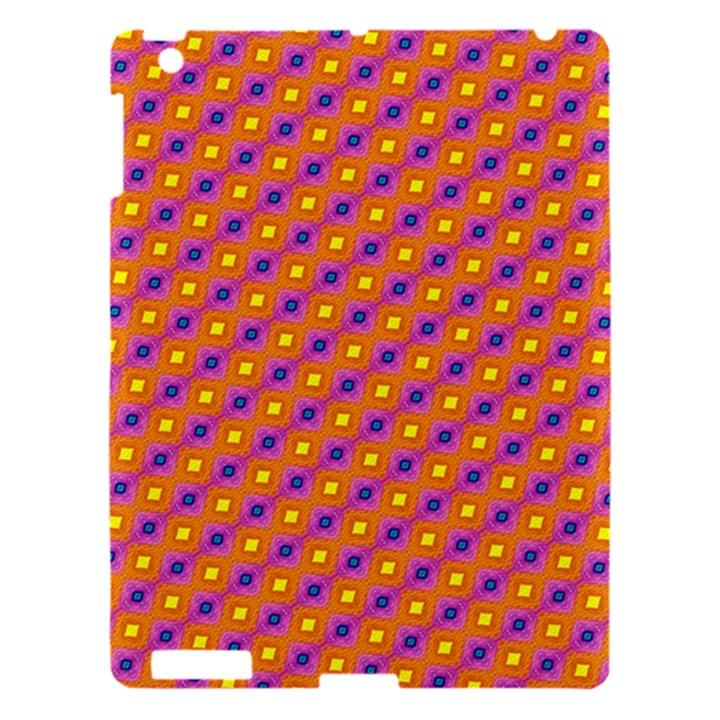 Vibrant Retro Diamond Pattern Apple iPad 3/4 Hardshell Case