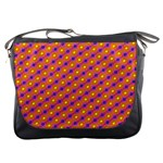 Vibrant Retro Diamond Pattern Messenger Bags Front