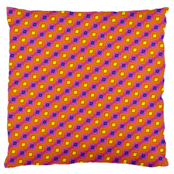 Vibrant Retro Diamond Pattern Large Cushion Case (Two Sides)
