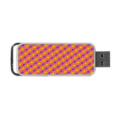 Vibrant Retro Diamond Pattern Portable Usb Flash (two Sides)