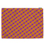 Vibrant Retro Diamond Pattern Cosmetic Bag (XXL)  Back