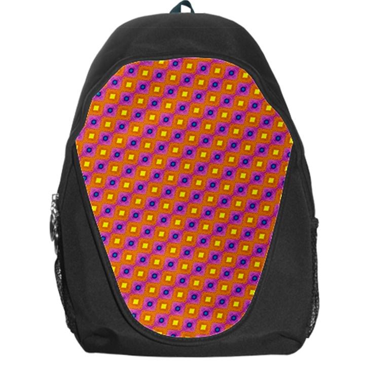 Vibrant Retro Diamond Pattern Backpack Bag