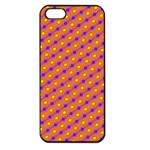 Vibrant Retro Diamond Pattern Apple iPhone 5 Seamless Case (Black) Front