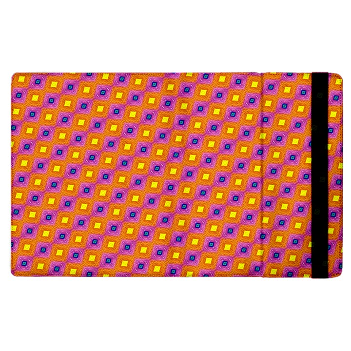 Vibrant Retro Diamond Pattern Apple iPad 2 Flip Case