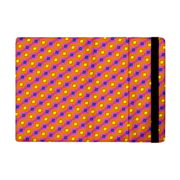 Vibrant Retro Diamond Pattern Apple iPad Mini Flip Case