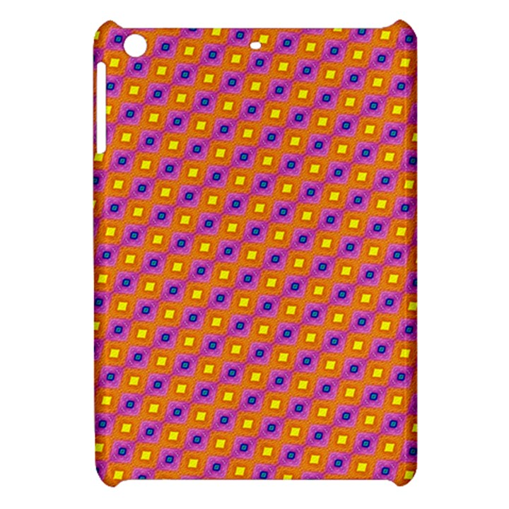 Vibrant Retro Diamond Pattern Apple iPad Mini Hardshell Case