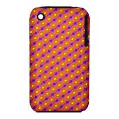 Vibrant Retro Diamond Pattern Apple iPhone 3G/3GS Hardshell Case (PC+Silicone)