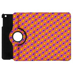 Vibrant Retro Diamond Pattern Apple Ipad Mini Flip 360 Case