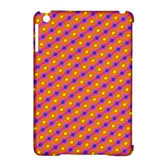Vibrant Retro Diamond Pattern Apple iPad Mini Hardshell Case (Compatible with Smart Cover)