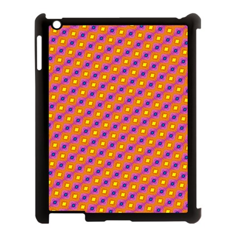 Vibrant Retro Diamond Pattern Apple iPad 3/4 Case (Black)