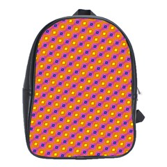 Vibrant Retro Diamond Pattern School Bags (xl)