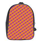 Vibrant Retro Diamond Pattern School Bags (XL)  Front