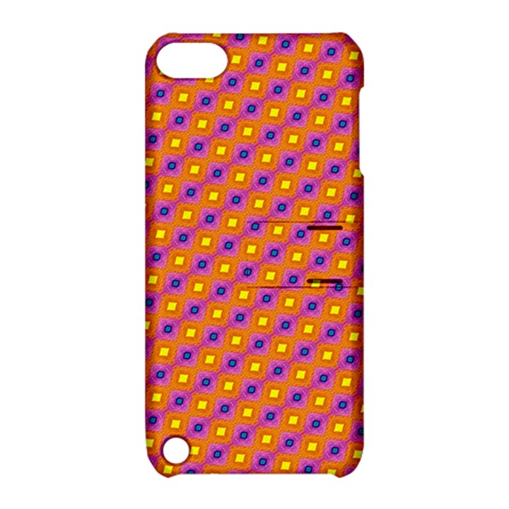 Vibrant Retro Diamond Pattern Apple iPod Touch 5 Hardshell Case with Stand