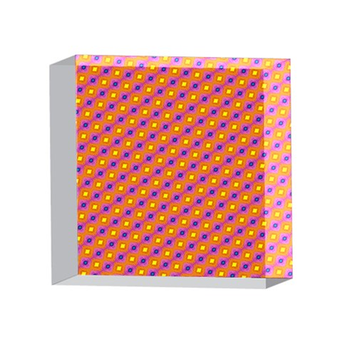 Vibrant Retro Diamond Pattern 4 x 4  Acrylic Photo Blocks