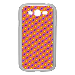 Vibrant Retro Diamond Pattern Samsung Galaxy Grand DUOS I9082 Case (White)
