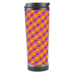 Vibrant Retro Diamond Pattern Travel Tumbler