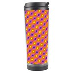 Vibrant Retro Diamond Pattern Travel Tumbler Right