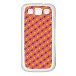 Vibrant Retro Diamond Pattern Samsung Galaxy S3 Back Case (White) Front