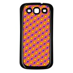Vibrant Retro Diamond Pattern Samsung Galaxy S3 Back Case (Black) Front