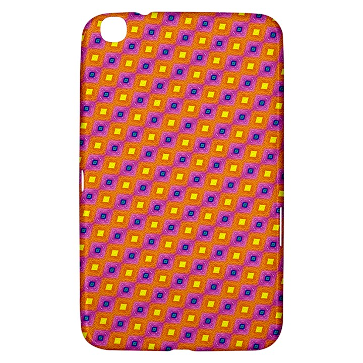 Vibrant Retro Diamond Pattern Samsung Galaxy Tab 3 (8 ) T3100 Hardshell Case