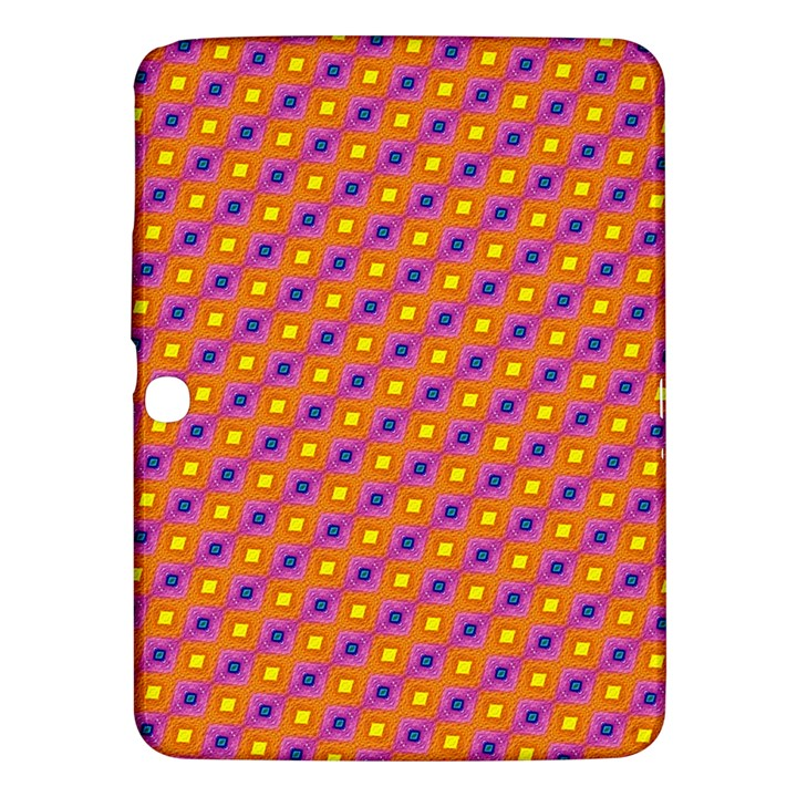 Vibrant Retro Diamond Pattern Samsung Galaxy Tab 3 (10.1 ) P5200 Hardshell Case