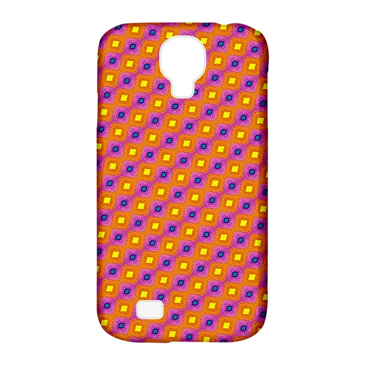 Vibrant Retro Diamond Pattern Samsung Galaxy S4 Classic Hardshell Case (PC+Silicone)