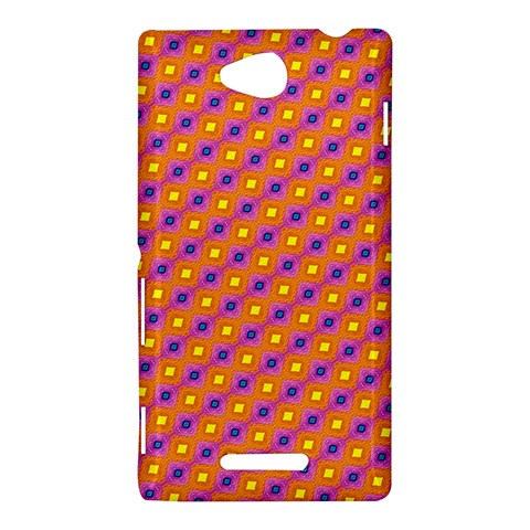 Vibrant Retro Diamond Pattern Sony Xperia C (S39H)