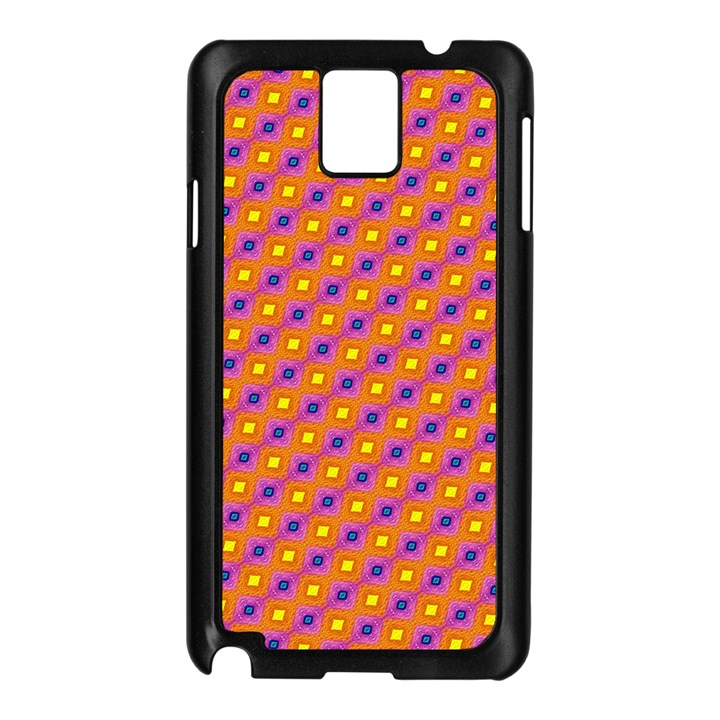 Vibrant Retro Diamond Pattern Samsung Galaxy Note 3 N9005 Case (Black)