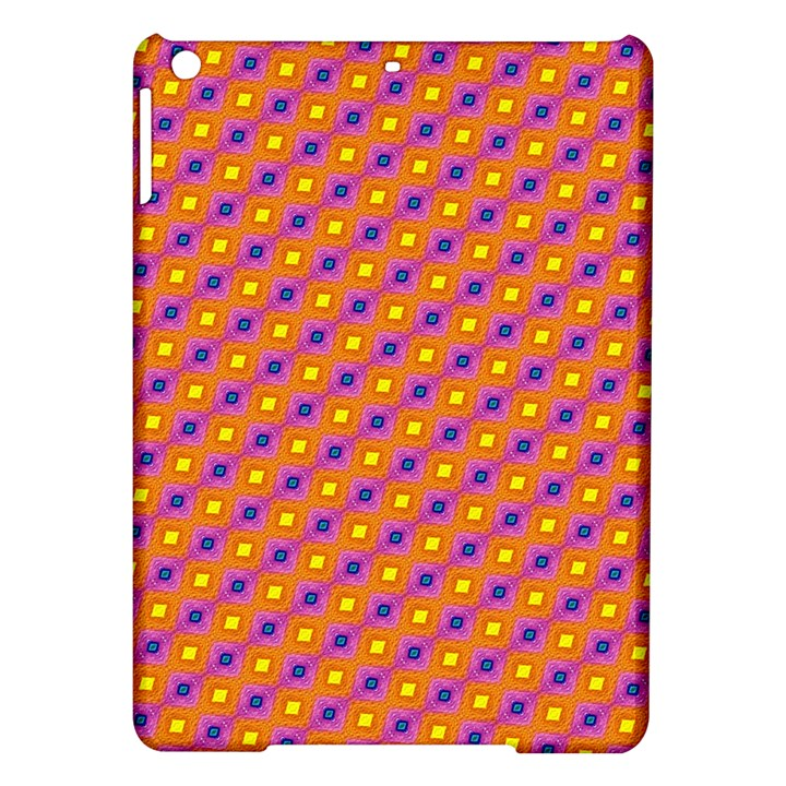 Vibrant Retro Diamond Pattern iPad Air Hardshell Cases