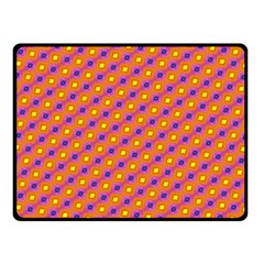 Vibrant Retro Diamond Pattern Double Sided Fleece Blanket (Small)