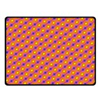 Vibrant Retro Diamond Pattern Double Sided Fleece Blanket (Small)  50 x40 Blanket Front