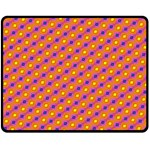 Vibrant Retro Diamond Pattern Double Sided Fleece Blanket (Medium)  60 x50 Blanket Back