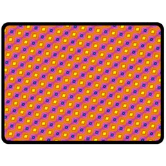Vibrant Retro Diamond Pattern Double Sided Fleece Blanket (Large)