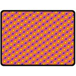 Vibrant Retro Diamond Pattern Double Sided Fleece Blanket (Large)  80 x60 Blanket Back
