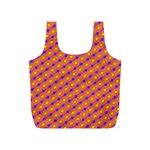 Vibrant Retro Diamond Pattern Full Print Recycle Bags (S)  Back