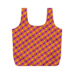 Vibrant Retro Diamond Pattern Full Print Recycle Bags (M)  Front