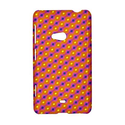 Vibrant Retro Diamond Pattern Nokia Lumia 625