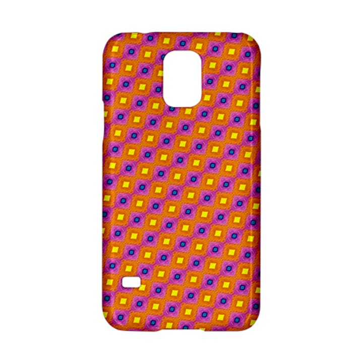 Vibrant Retro Diamond Pattern Samsung Galaxy S5 Hardshell Case