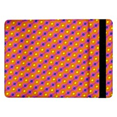 Vibrant Retro Diamond Pattern Samsung Galaxy Tab Pro 12 2  Flip Case