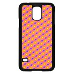 Vibrant Retro Diamond Pattern Samsung Galaxy S5 Case (Black) Front