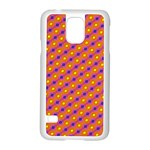Vibrant Retro Diamond Pattern Samsung Galaxy S5 Case (White) Front